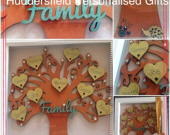 Framed family tree - fully personalised