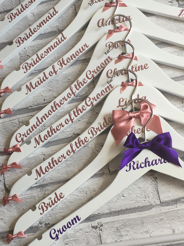 Hochzeit Kleiderbügel personalisierte X10 Brautjungfer Kleid