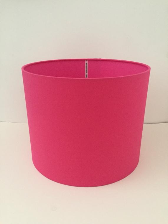 Fuschia Pink Drum Lampshade Ceiling, Small Fuschia Lamp Shade