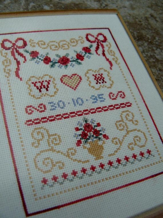 Bodas De Oro Aniversario tarjeta de felicitación-Cross Stitch Kit Por 16 Aida