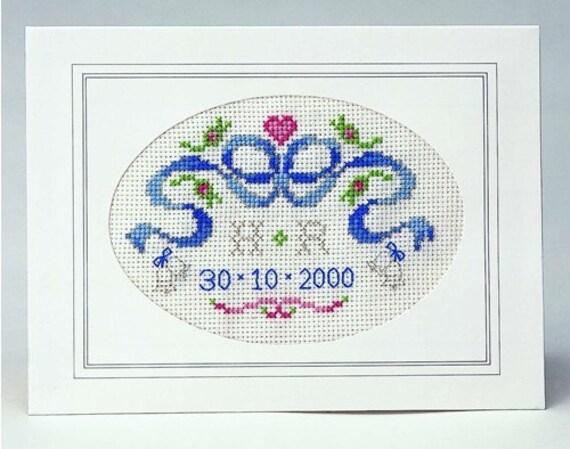 CSI 605 Celebration or Wedding Anniversary Cross Stitch Cake Band Kit