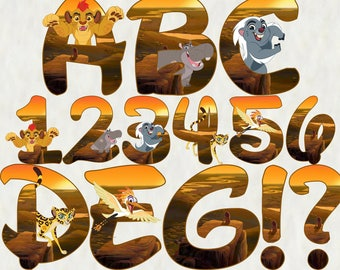 Lion Guard Alphabet | Instant Download | Digital Letters and Numbers | Printable Letters and Numbers