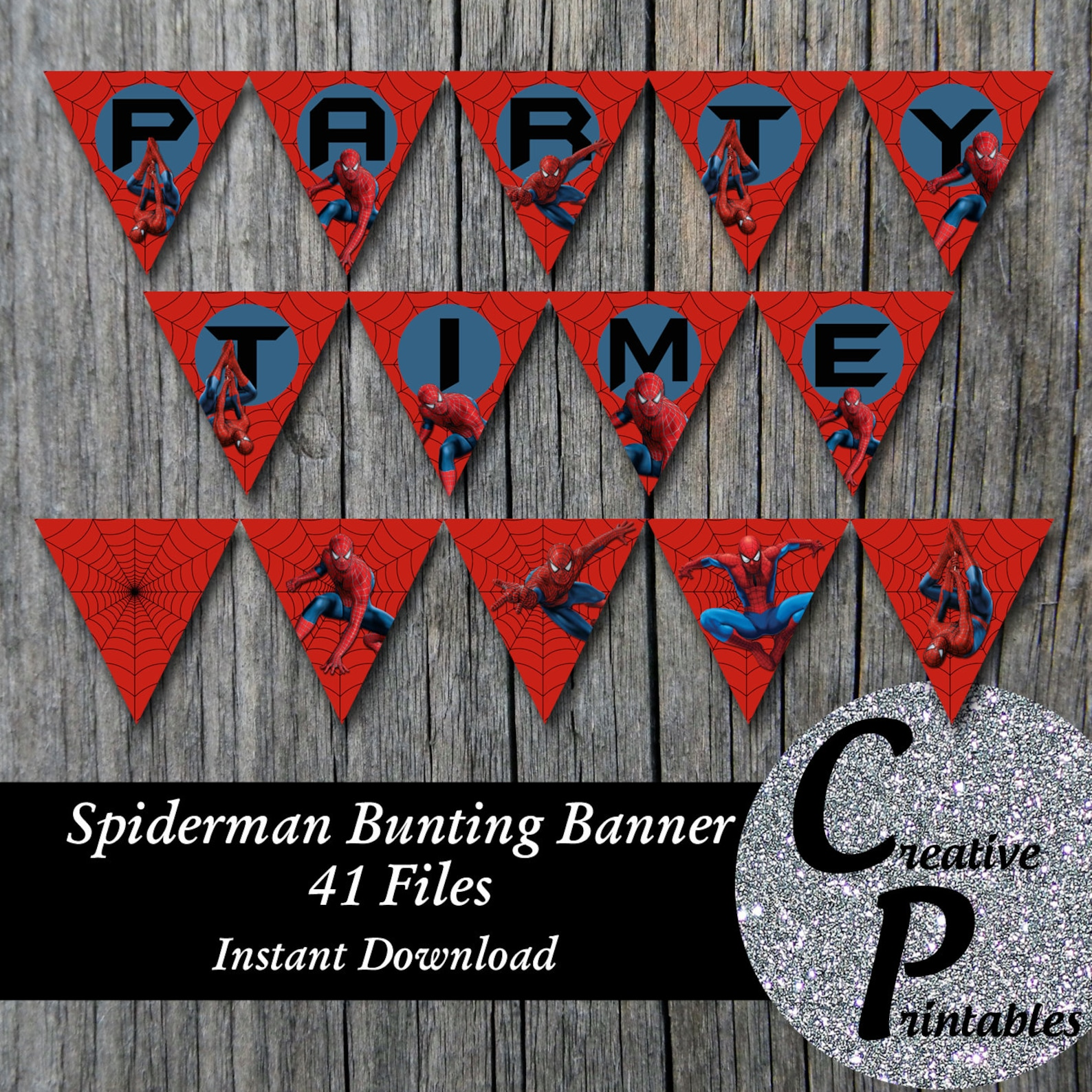 Printable Spiderman Pennant Banners