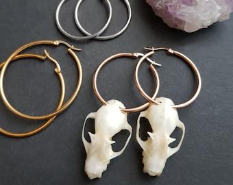 Faux bat skull Earrings