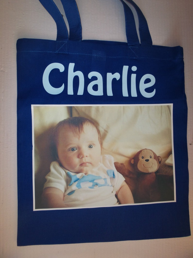Personalised Tote Cotton Shopping Bag  Any Photo Picture and image 0