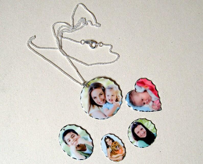 Personalised Silver Plated Photo Printed Jewellery  Custom image 0