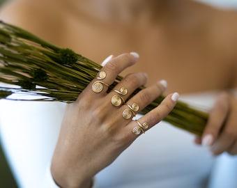 Spiral Ring (Gold Ring, Handmade Ring, Copper Ring)