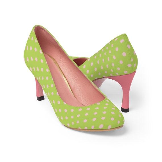 Bella rose & vert - des talons hauts pour femmes
