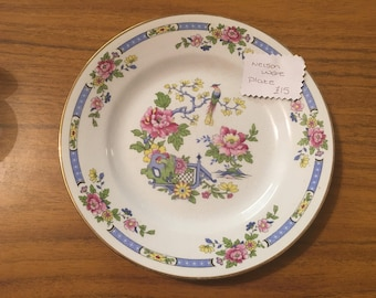 Vintage nelsonware plate very pretty collectable oriental Design blue shades