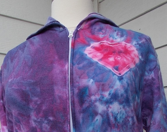 Ice Dye Tie Dye Women's 1X Plus Size Hoodie