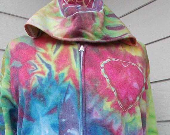 Ice Dye Tie Dye Women's 2X Plus Size Hoodie