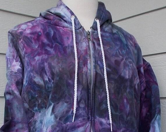Ice Dye Tie Dye Zip Hoodie