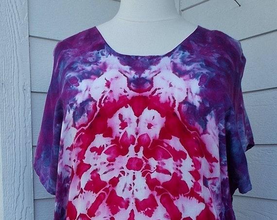 ice dye tie dye Rayon Poncho