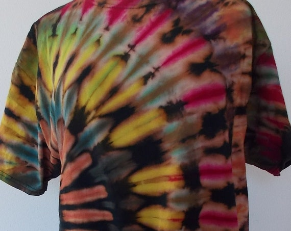 Large Reverse dyed, Bleach Dyed, Ice-Dyed, Tie Dyed Tshirt