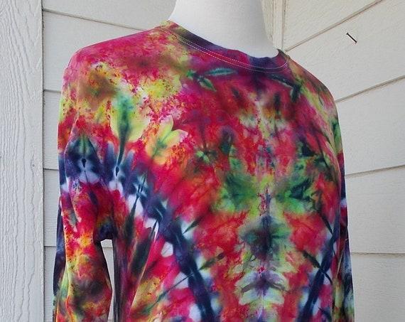 Ice-dyed Long Sleeve Unisex TShirt, Medium