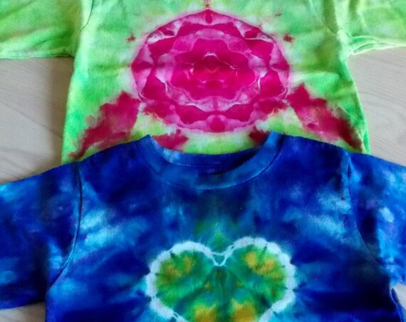 Ice-Dyed tie dyed 4T Toddler Shirts