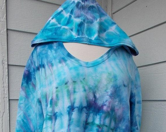 Ladies Large French Terry Hoodie Sweatshirt