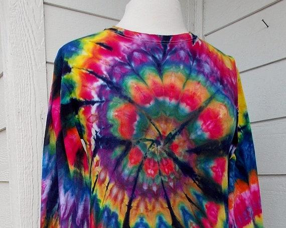 Ice-dyed Small Long Sleeve Unisex TShirt