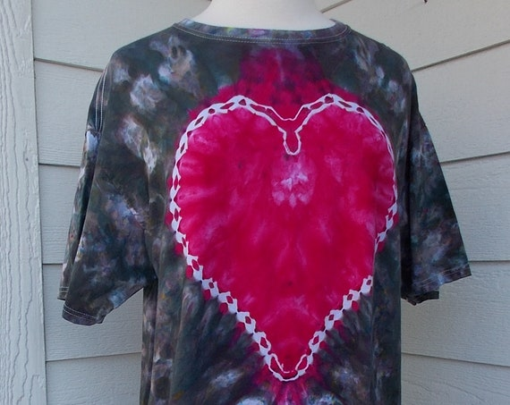 Ice-Dyed Tie Dyed Tshirt, Large