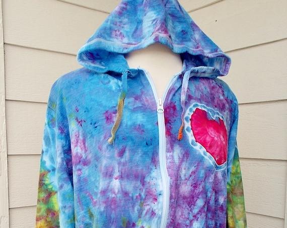 Ice Dye Tie Dye Women's 3X Plus Size Hoodie