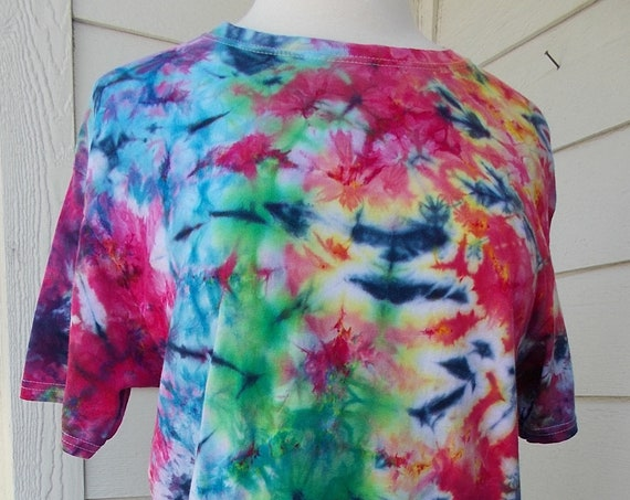 Ice-Dyed Tie Dyed Tshirt, Medium