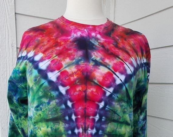Ice-dyed Long Sleeve Unisex TShirt, XL