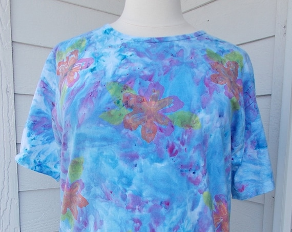 OS Plus Ice-Dyed Tie Dyed Tshirt