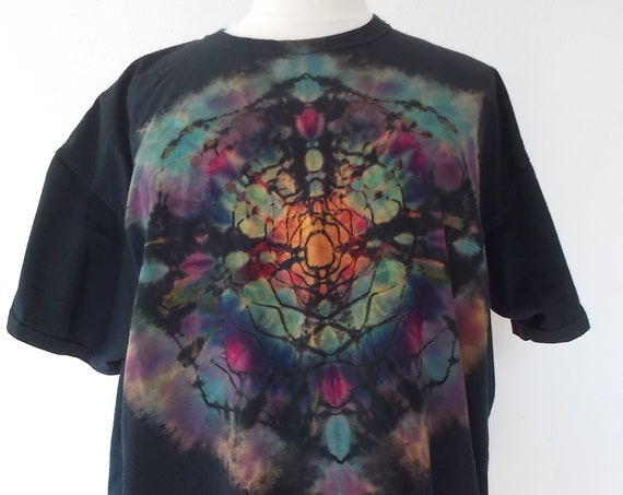 3XL Reverse Ice-Dyed Tie Dyed Tshirt