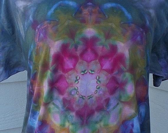 Medium Kaleidoscope Ice-Dyed Tie Dyed Tshirt