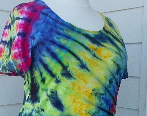 2XL Ice dye tie dye Dress   Multi