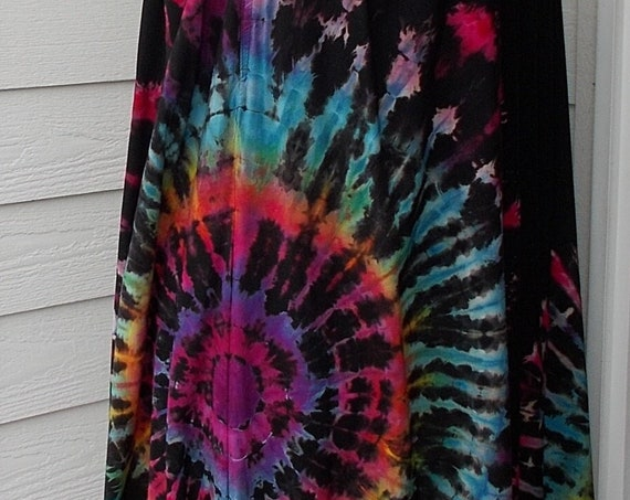 2XL Discharged Black Rayon Skirts, Overdyed, Bleach dye skirt, tie dye skirt, discharge dye bleach dye