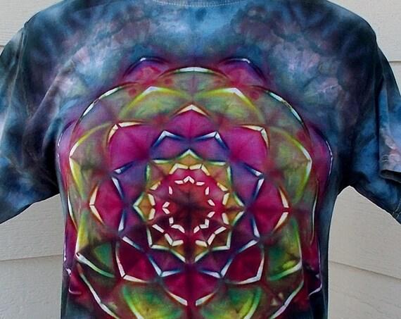 Small Kaleidoscope Ice-Dyed Tie Dyed Tshirt