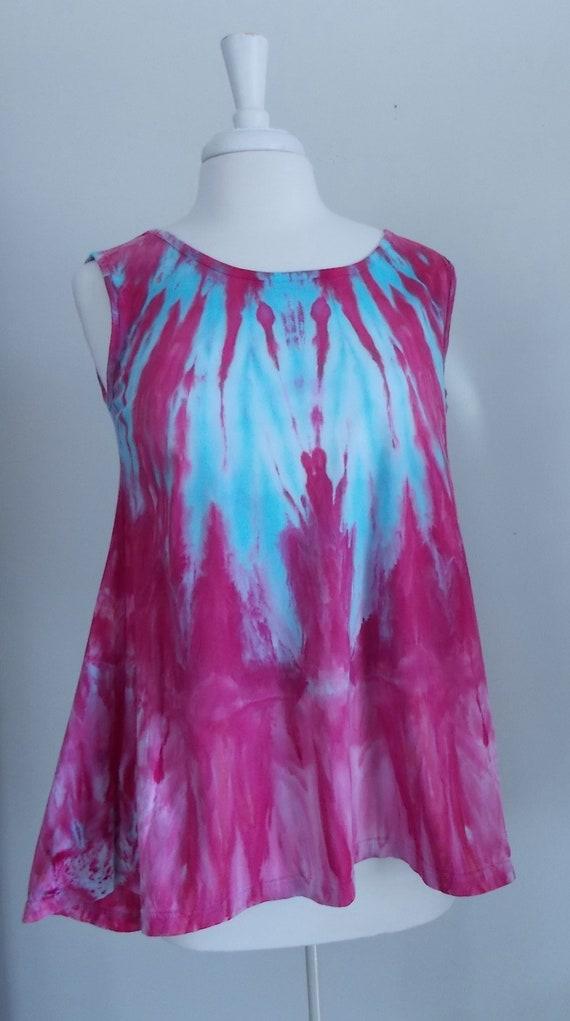 Ice dye tie dye  Hi-Lo Women's Medium Sleeveless Top