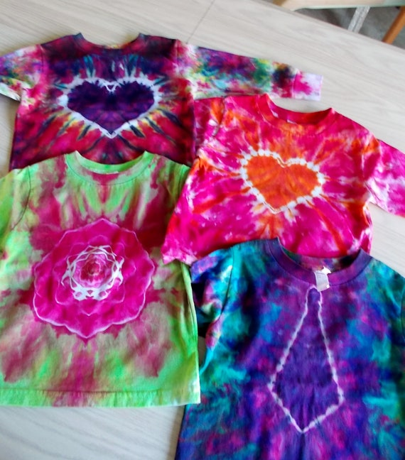 Ice-Dyed tie dyed 3T Toddler Shirts