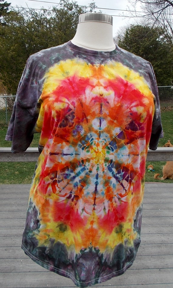 Ice-Dyed Tie Dyed Tshirt, 2XL