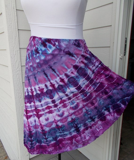 2XL Cotton Asymmetrical SkirtTie Dyed Ice Dyed