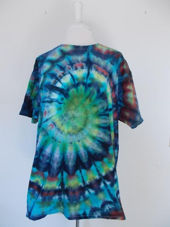 Large Swirl Ice-Dyed Tie Dyed Tshirt