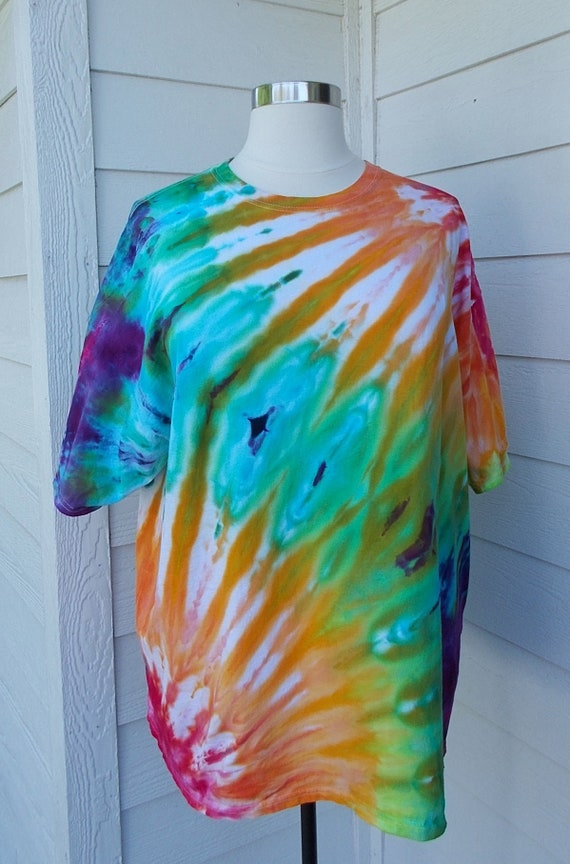 3XL Ice-Dyed Tie Dyed   Tshirt