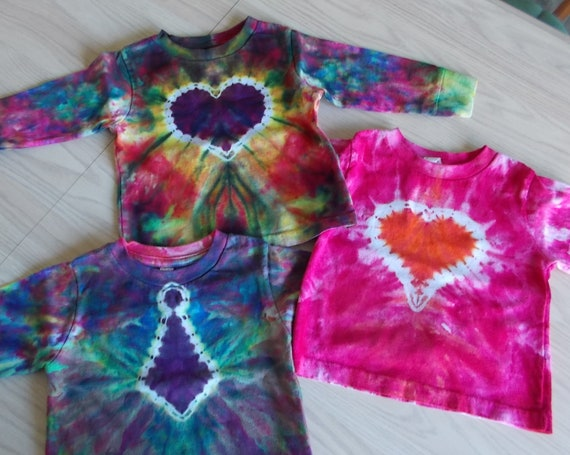 Ice-Dyed tie dyed 2T Toddler Shirts