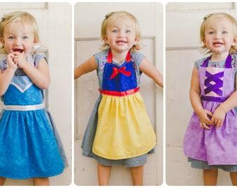 Princess Dress-Up Aprons | Snow White | Elsa | Rapunzel