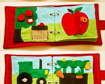 Digital Quiet Book PATTERN - On The Farm - Downloadable PDF