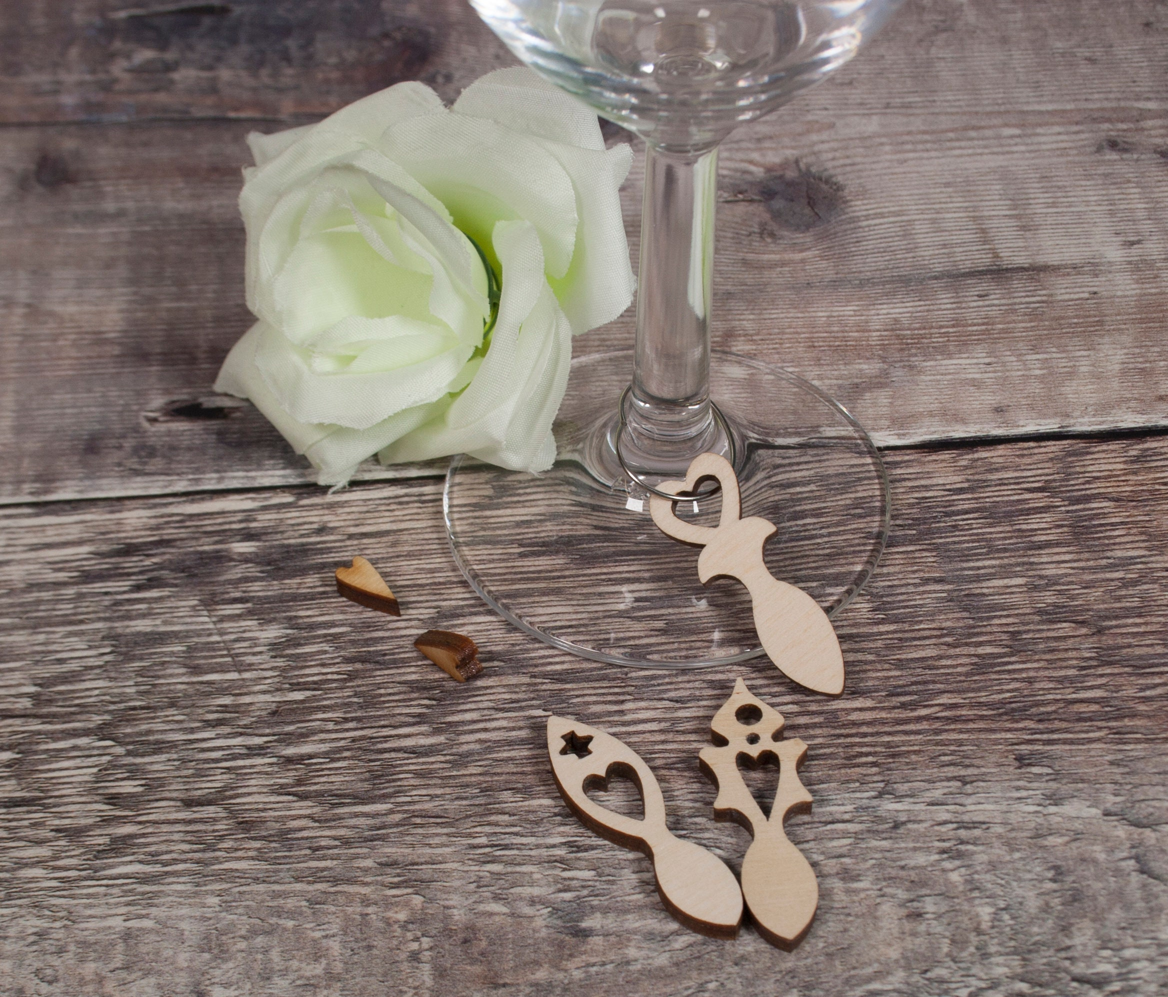 130 Welsh Love Spoons 3mm Laser Ply Wedding Favours