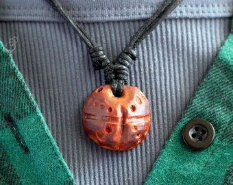 Hand-Carved Avocado Stone Necklace Natural Jewelry