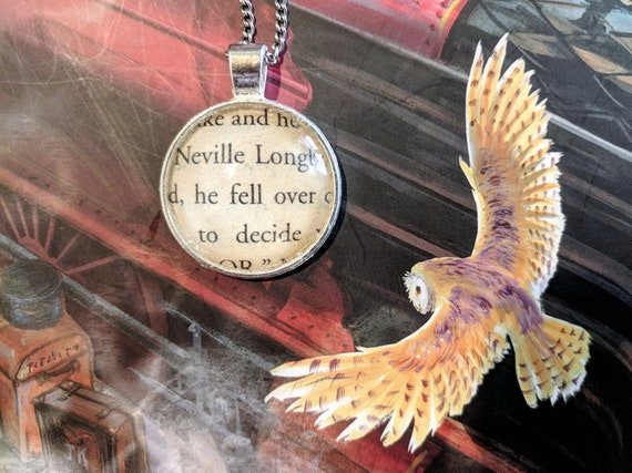 Harry Potter Book Quote Page Necklace Neville Longbottom Etsy