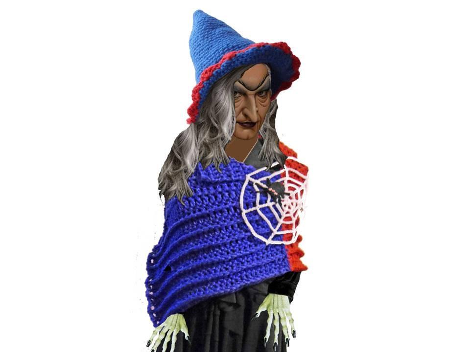 Hexen Outfit Cape und Hut Häkelanleitung