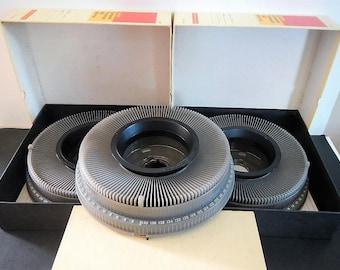 Vintage Kodak Carousel Slide Trays - Transvue 140 - 1980s - projector accessory, photography, photo view equipment, Eastman, 35 mm slide