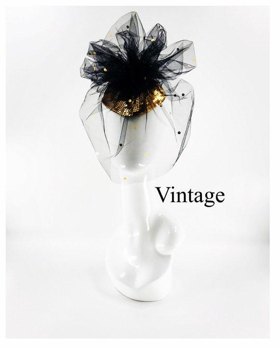 Vintage Whittal & Shon Gold Fascinator
