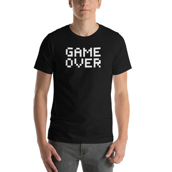 8 Bit Pixelated Game Over T-shirt for Men