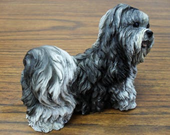 Lhasa Apso dog figure Castagna model by hand made in Italy with certificate