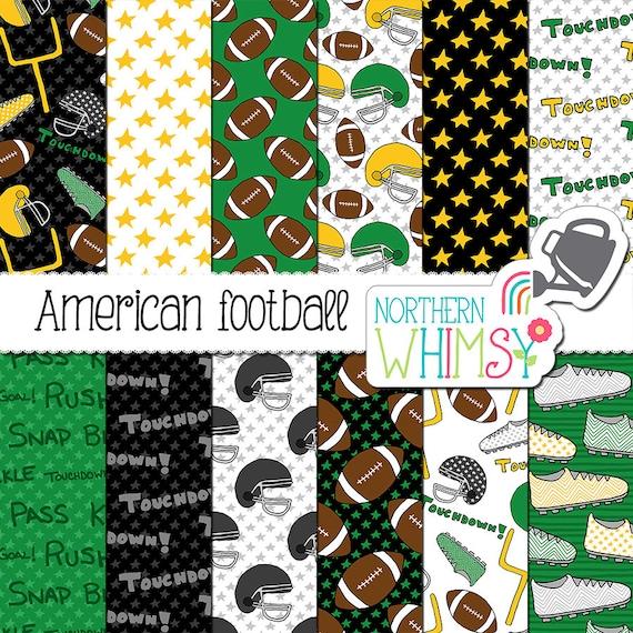 Football Digital Paper American Football Etsy